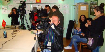 Од прес-конференцијата во Корча