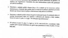 Комисионерот за Заштита од Дискриминација разгледувајќи ја жалбата на општина Пустец за инцидентите што Аленаца на Црвено-Црни ги предизвикаа во Општина Пустец на 16 ноември 2012 година, донесе одлука со […]