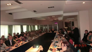 Поглед од работилниците организирани во Охрид на 4-8 Март, 2013