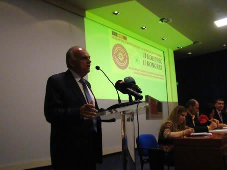 Ѓорѓија Џорџ Атанасоски на Вториот конгрес на Македонска алијанса за европска интеграција во Тирана