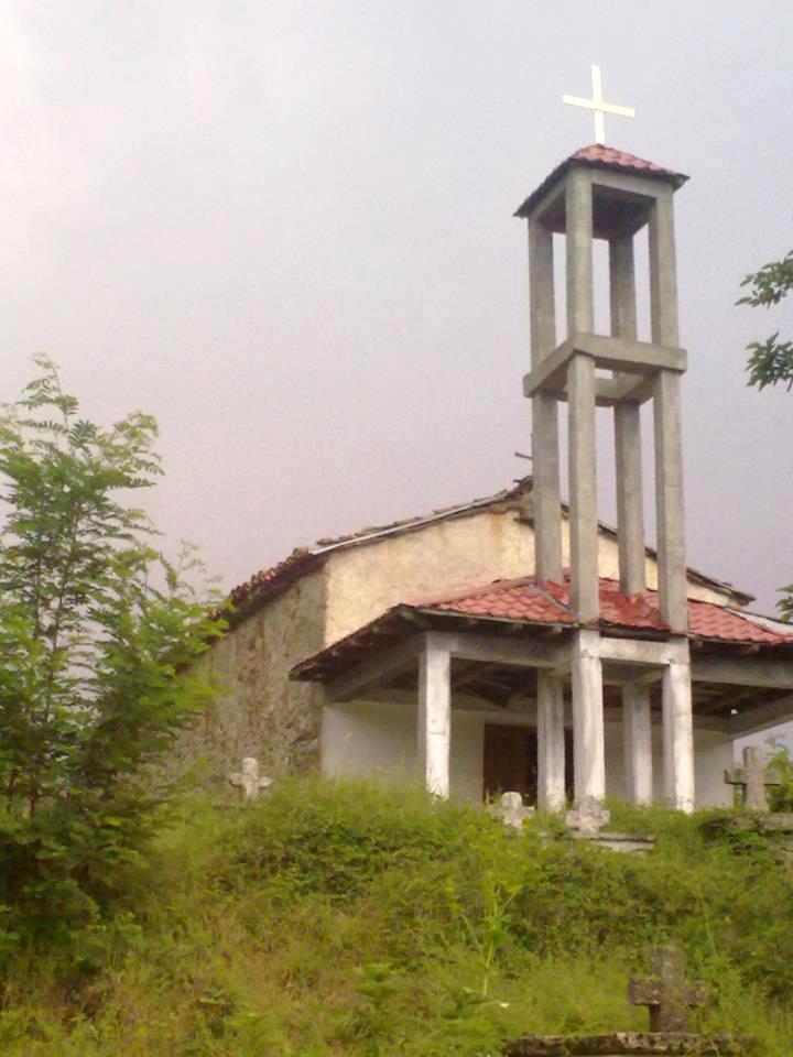 """Црквата """"Свето Преображение"""", Ербеле."""